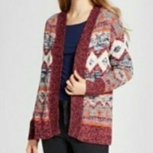 NWT. MOSSIMO SUPPLY CO. patterned open cardigan